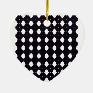 Ornamento De Cerâmica Preto do laço no branco