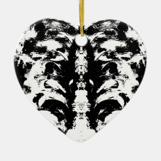 Ornamento De Cerâmica preto e branco
