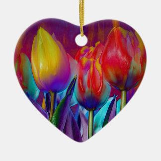 Ornamento De Cerâmica Primavera colorido