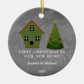 Ornamento De Cerâmica Primeiro Natal em nosso quadro Home novo