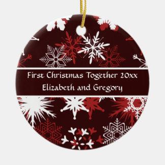 Ornamento De Cerâmica Primeiro Natal junto