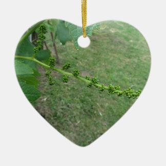 Ornamento De Cerâmica Primeiros botões na árvore de mulberry branco