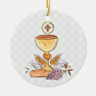 Ornamento De Cerâmica Primeiros símbolos do comunhão