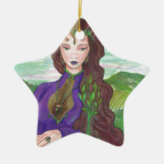 Ornamento De Cerâmica Princesa Cura Terra Planta Growing do unicórnio