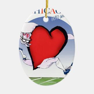 Ornamento De Cerâmica Principais de Chicago e coração, fernandes tony