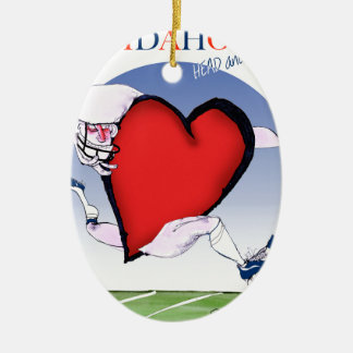 Ornamento De Cerâmica Principais de Idaho e coração, fernandes tony