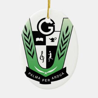 Ornamento De Cerâmica Produtos da crista da reunião dos alunos de GGMSS