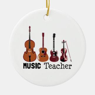 Ornamento De Cerâmica Professor de música