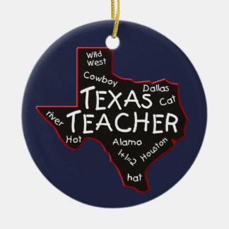 Ornamento De Cerâmica Professor de Texas