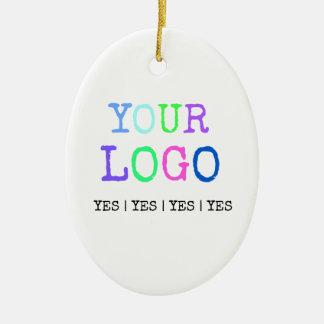 Ornamento De Cerâmica Projete seu próprio logotipo personalizado costume