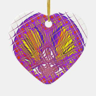 Ornamento De Cerâmica Projeto colorido surpreendente do teste padrão da