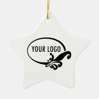 Ornamento De Cerâmica Promocional do logotipo de Estrela Cerâmico