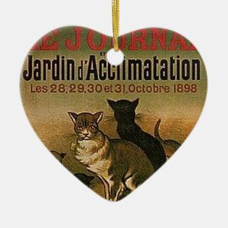 Ornamento De Cerâmica Propaganda francesa do vintage - gatos