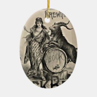 Ornamento De Cerâmica Propaganda velha da cerveja de cerveja preta forte