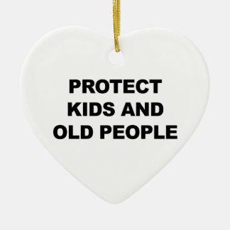 Ornamento De Cerâmica Proteja miúdos e pessoas adultas