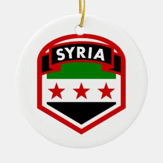Ornamento De Cerâmica Protetor da crista da bandeira de Syria