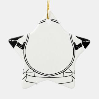 Ornamento De Cerâmica Protetor heráldico da crista da brasão dos cães