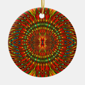 Ornamento De Cerâmica Psicadélico