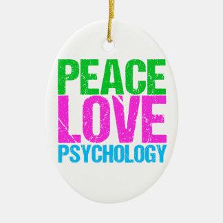 Ornamento De Cerâmica Psicologia do amor da paz bonito