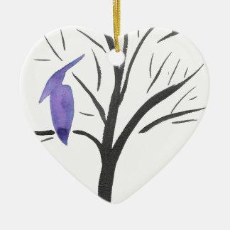 Ornamento De Cerâmica Pterodactyl em uma árvore