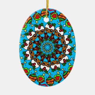 Ornamento De Cerâmica Pudim bonito dos presentes do Natal, presente