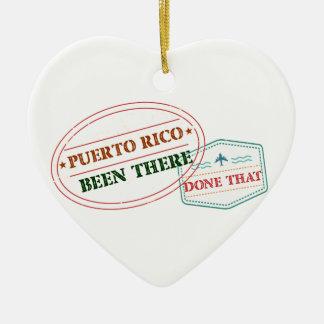 Ornamento De Cerâmica Puerto Rico feito lá isso