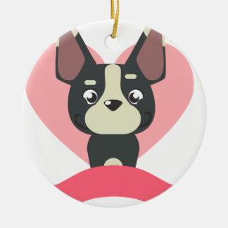 Ornamento De Cerâmica Pug Love