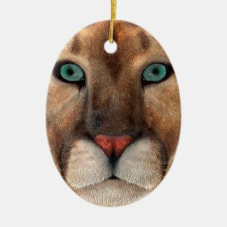 Ornamento De Cerâmica Puma