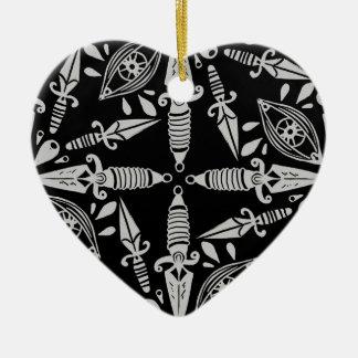 Ornamento De Cerâmica Punhais e olhos do tatuagem da velha escola
