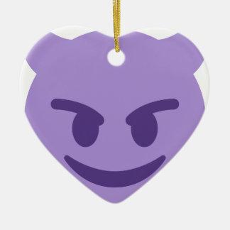 Ornamento De Cerâmica Purple Devil Emoji
