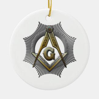 Ornamento De Cerâmica Quadrado & compasso