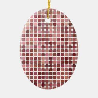 Ornamento De Cerâmica Quadrados cor-de-rosa