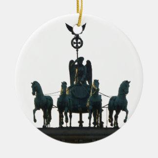 Ornamento De Cerâmica Quadriga de BERLIM na porta de Brandemburgo