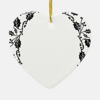 Ornamento De Cerâmica Quadro do azevinho