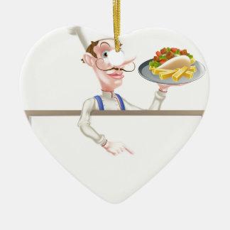 Ornamento De Cerâmica Quadro indicador de Kebab do cozinheiro chefe dos