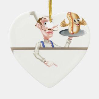 Ornamento De Cerâmica Quadro indicador do cozinheiro chefe dos desenhos