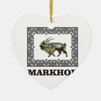 Ornamento De Cerâmica Quadro ornamentado do Markhor