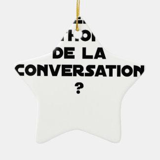 ORNAMENTO DE CERÂMICA QUAL É O ATUM DA CONVERSAÇÃO