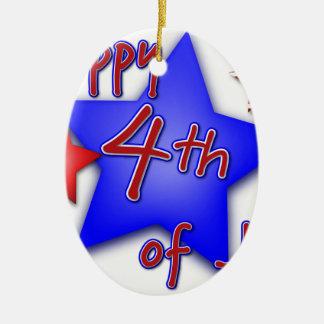 Ornamento De Cerâmica Quarto da celebração de julho