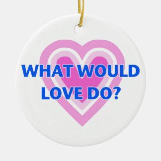 Ornamento De Cerâmica Que o amor faria?
