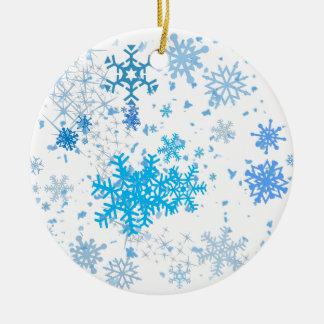 Ornamento De Cerâmica Queda de neve do Natal