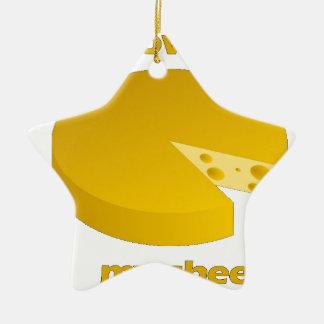 Ornamento De Cerâmica Quem moveu o queijo