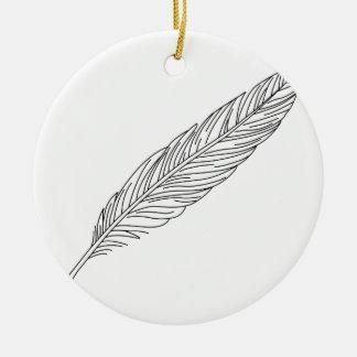 Ornamento De Cerâmica Quill