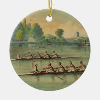 Ornamento De Cerâmica Raça de barco da raça do grupo dos Rowers do