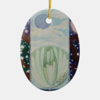 Ornamento De Cerâmica Rachadura nas nuvens