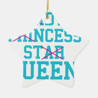 Ornamento De Cerâmica Rainha da estrela da princesa da senhora