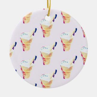 Ornamento De Cerâmica Rainha do sorvete