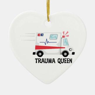 Ornamento De Cerâmica Rainha do traumatismo