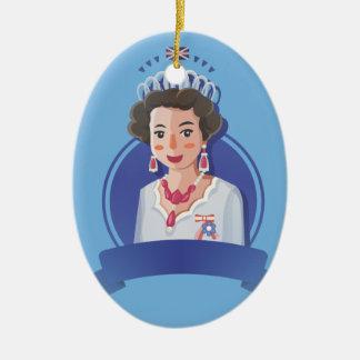 Ornamento De Cerâmica rainha elizabeth 2