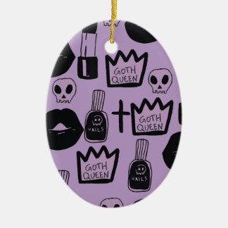 Ornamento De Cerâmica rainha gotica purpura